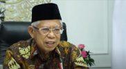 Wakil Presiden Ma'ruf Amin dalam Webinar Internasional Peringatan Hari Santri 2021 yang diselenggarakan oleh Rabithah Ma'ahid Islamiyah Pengurus Besar Nahdlatul Ulama (RMI-PBNU) pada Rabu (20/10).